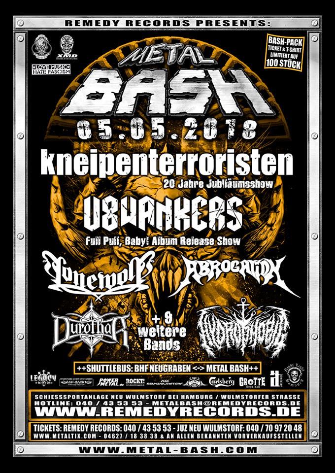 Metal Bash 2018, 05.05.2018, Neu Wulmstorf – Vorbericht