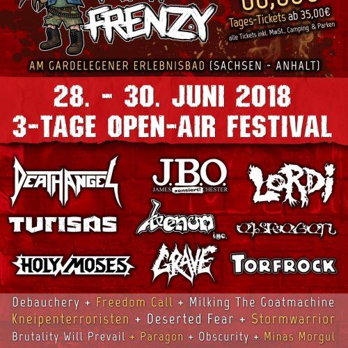 Metal Frenzy Festival, 28.-30.06.2018, Gardelegen - Vorbericht