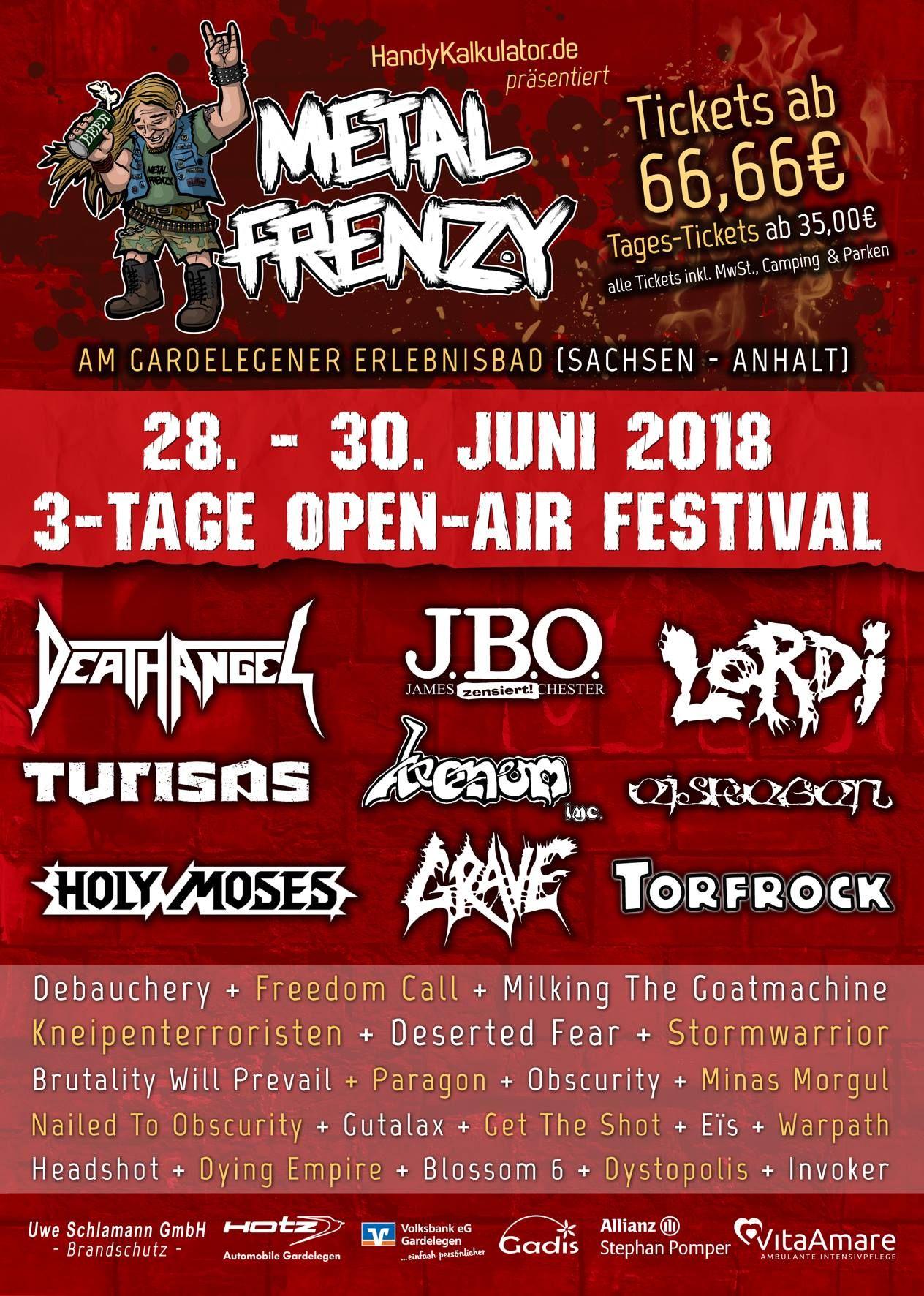 Metal Frenzy Festival, 28.-30.06.2018, Gardelegen – Vorbericht