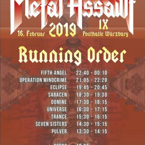 Metal Assault IX, 18.02.2019, Posthalle Würzburg - Vorbericht
