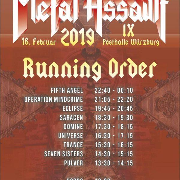 Metal Assault IX, 18.02.2019, Posthalle Würzburg – Vorbericht