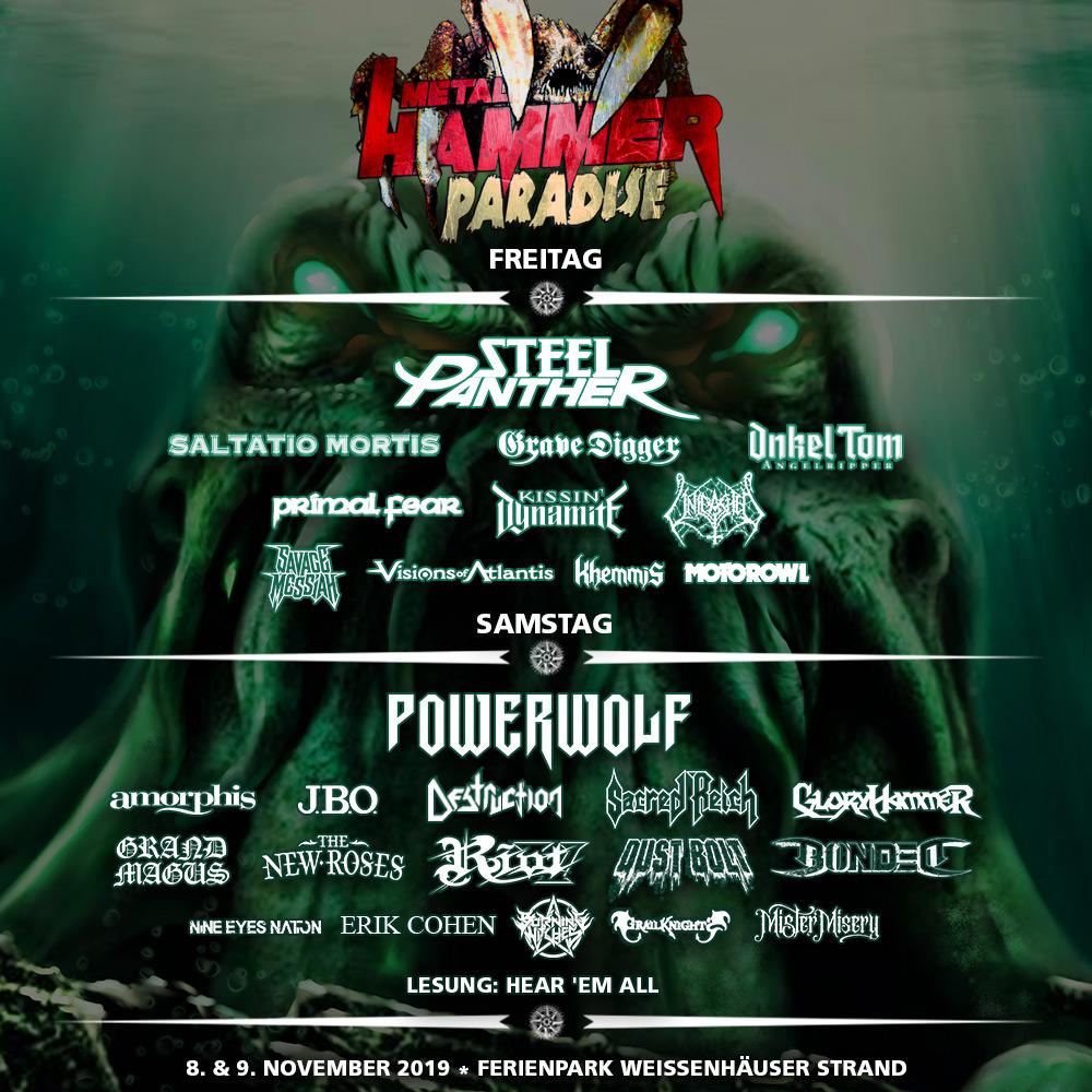 Metal Hammer Paradise, 08-09.11.2019, Weissenhäuser Strand – Vorbericht